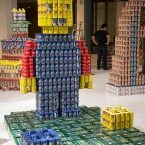 CAN-O-Man: Fighting hunger block by block