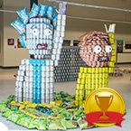 Structural Ingenuity - Canstruction Twenty-Rick-Teen, No Morty Hunger - IBI Group