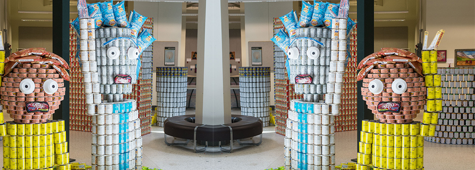 Canstruction Twenty-Rick-Teen, No Morty Hunger